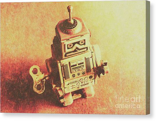 Machinery Canvas Print - Old Electric Robot by Jorgo Photography - Wall Art Gallery
