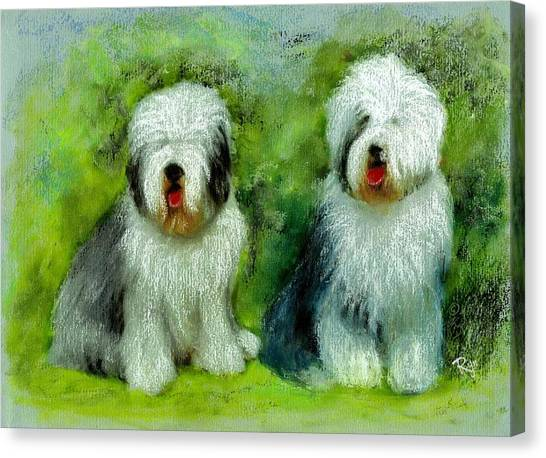 Old English Sheepdog Canvas Print
