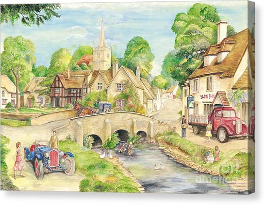 Briton Canvas Print - Old English Village by Morgan Fitzsimons