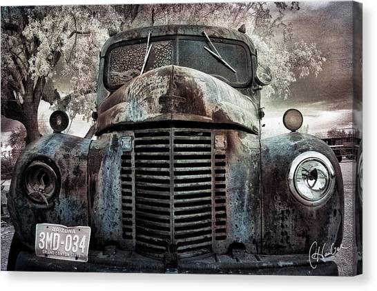 Old Farm Truck II Canvas Print by Christine Hauber