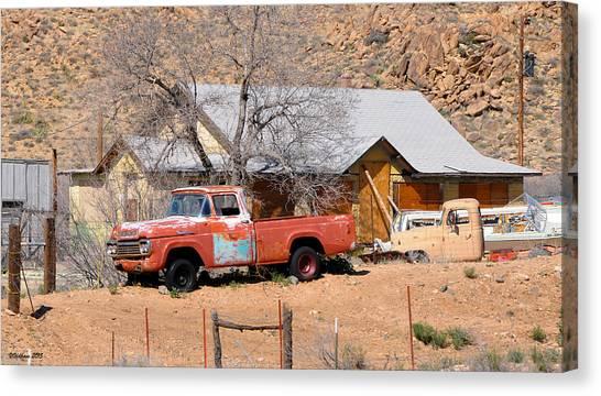 Old Farm Trucks Along Route 66 Canvas Print