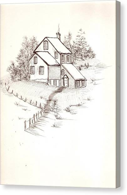 Old Farmhouse Canvas Print by Barbara Cleveland