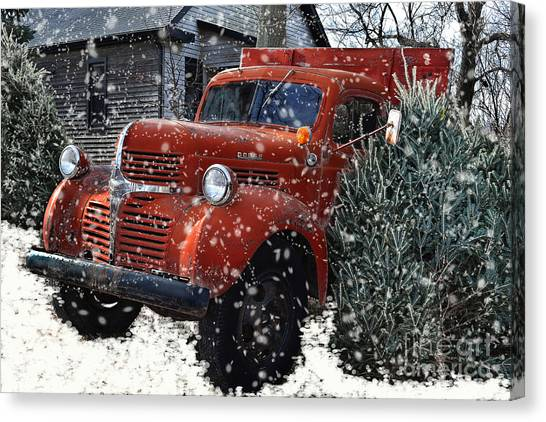 Old Fashion Country Christmas  Canvas Print