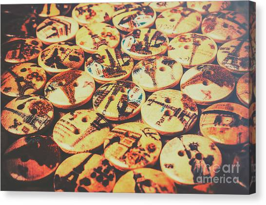 Repairs Canvas Print - Old Fashion Landmark Buttons by Jorgo Photography - Wall Art Gallery