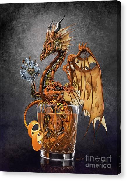 Old Fashioned Dragon Canvas Print