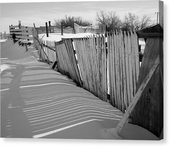 Canvas Print featuring the photograph Old Fences by Dutch Bieber