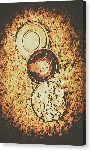 Popcorn Canvas Print - Old Film Festival by Jorgo Photography - Wall Art Gallery