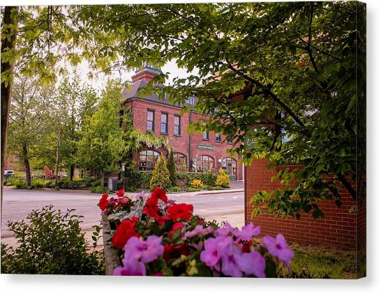 Old Fire Station Easthampton, Ma Canvas Print