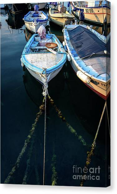 Old Fishing Boats Of The Adriatic Canvas Print