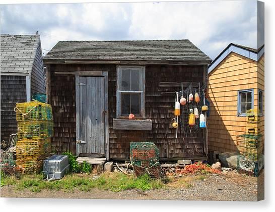 Chatham Canvas Print - Old Fishing  Houses  by Emmanuel Panagiotakis