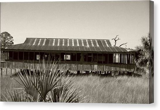 Canvas Print - Old Florida Sepia by Michael Morrison