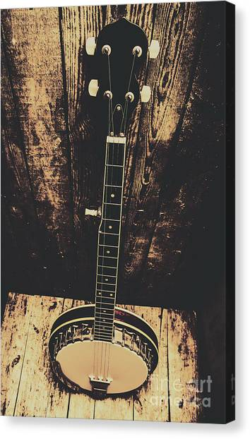 Stringed Instruments Canvas Print - Old Folk Music Banjo by Jorgo Photography - Wall Art Gallery