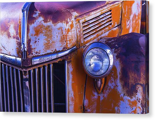 Rusty Truck Canvas Print - Old Ford Pickup by Garry Gay