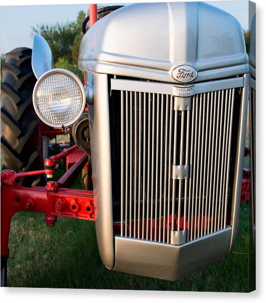 Ford Tractor 9n Tractor Front Canvas Print