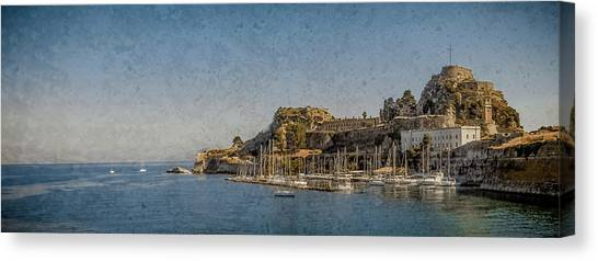 Canvas Print featuring the photograph Corfu, Greece - Old Fortress North by Mark Forte