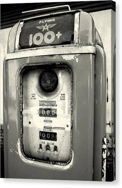 Old Gas Pump Canvas Print by DazzleMePhotography