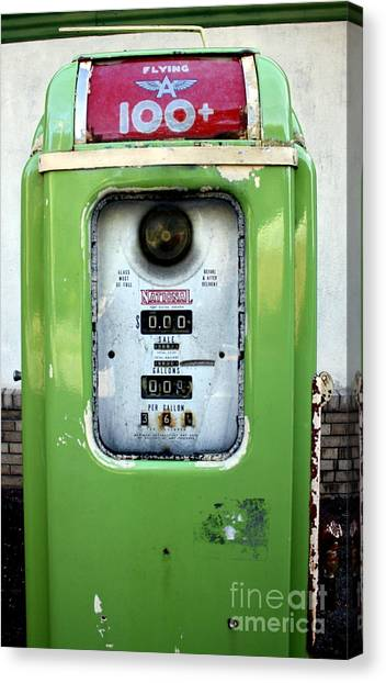 Old Gas Pump II Canvas Print by DazzleMePhotography