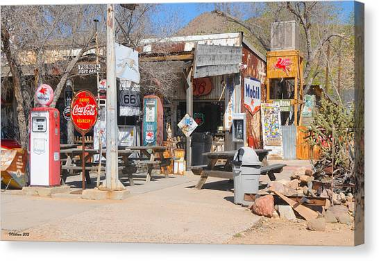 Old Gas Station, Historic Route 66 Canvas Print