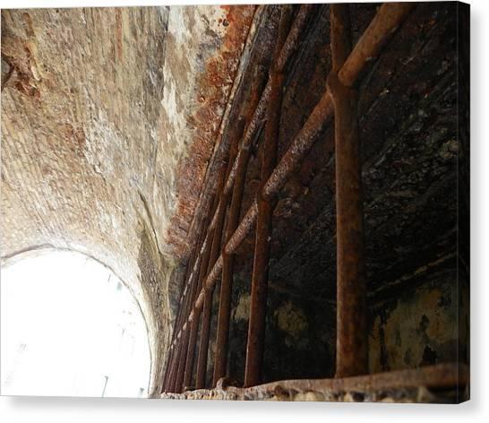 Tunnels Canvas Print - Old Gate by Vineta Marinovic