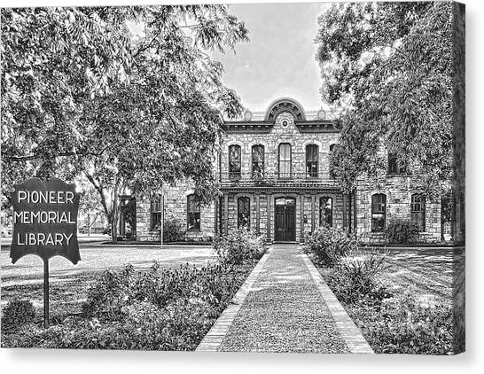Old Gillespie County Courthouse Canvas Print