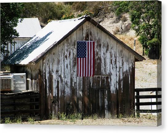 Rustic American Flag Canvas Print