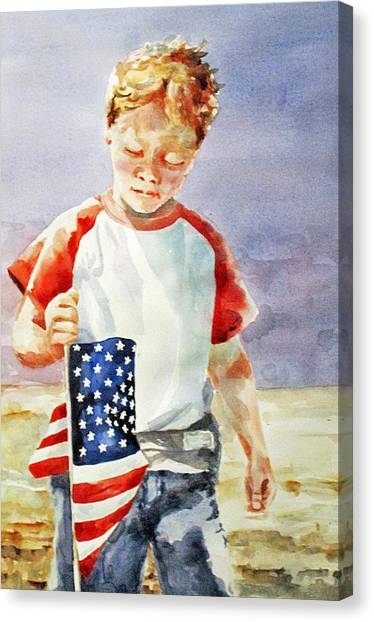Old Glory Forever Young Canvas Print