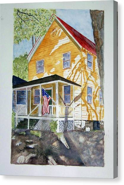 Old Glory Canvas Print by Larry Wright
