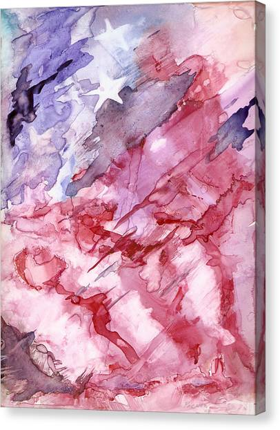 Old Glory Canvas Print by Roger Parnow