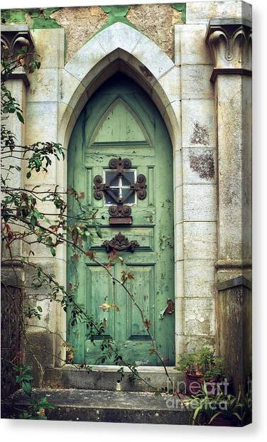 Old Door Canvas Print - Old Gothic Door by Carlos Caetano