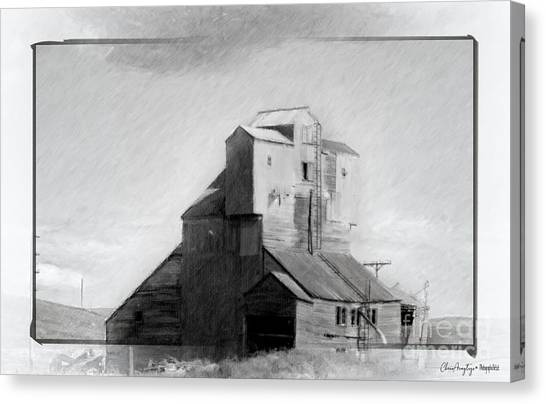 Old Grain Elevator Canvas Print