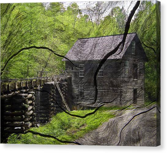 Old Grain Mill Canvas Print by Michael Whitaker
