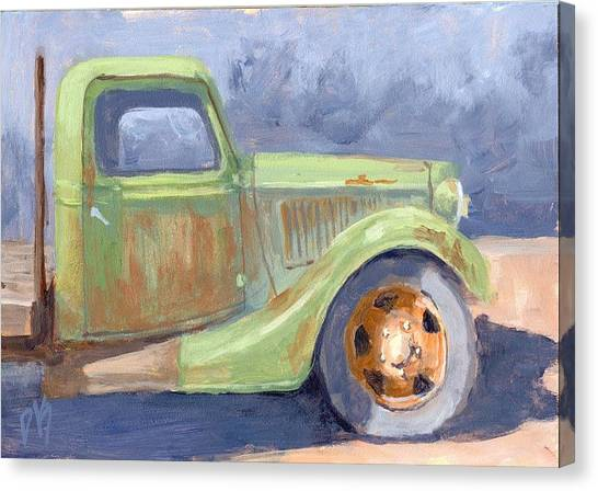 Old Green Ford Canvas Print