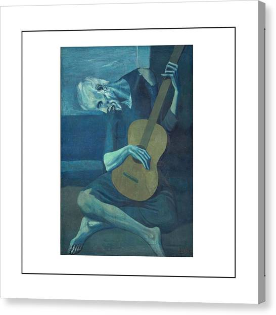 Pablo Picasso Canvas Print - Old Guitarist by Pablo Picasso