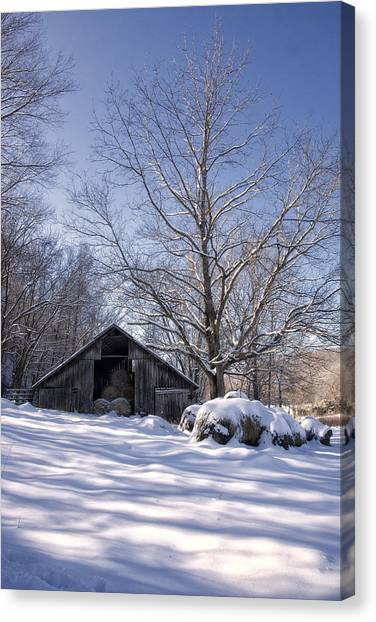 Old Hay Barn Boxley Valley Canvas Print