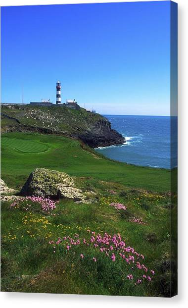 Golf Course Canvas Print - Old Head Of Kinsale Lighthouse by The Irish Image Collection