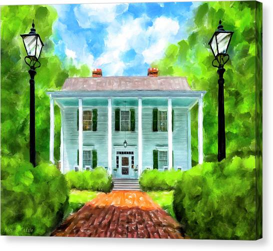 Gone With The Wind Canvas Print - Old Homestead - Smith Plantation - Roswell Georgia by Mark Tisdale