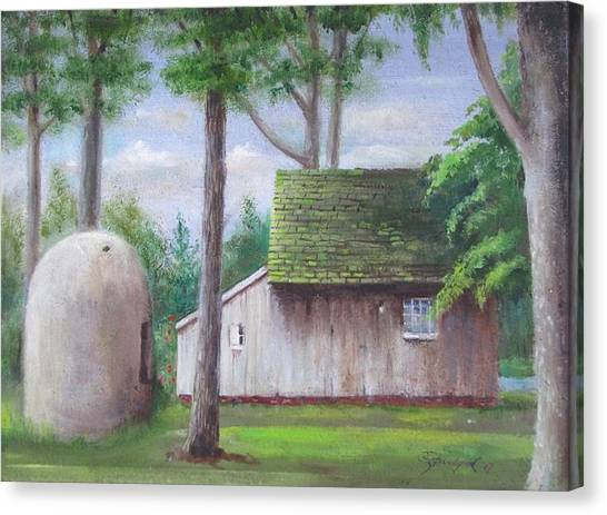 Old House And Oven Canvas Print