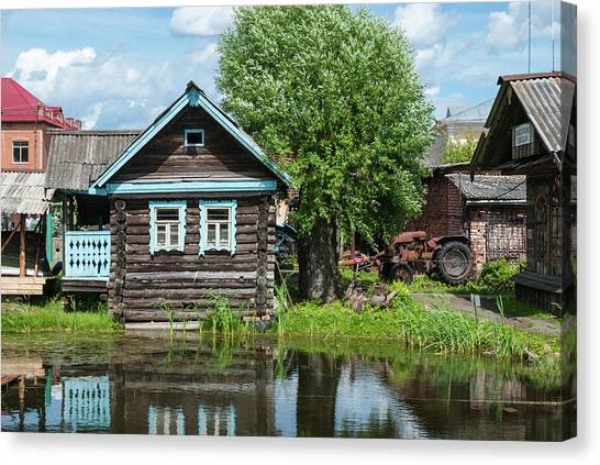 Architectonics Canvas Print - Old House by Sergei Dolgov