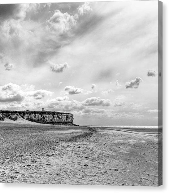 Sky Canvas Print - Old Hunstanton Beach, Norfolk by John Edwards