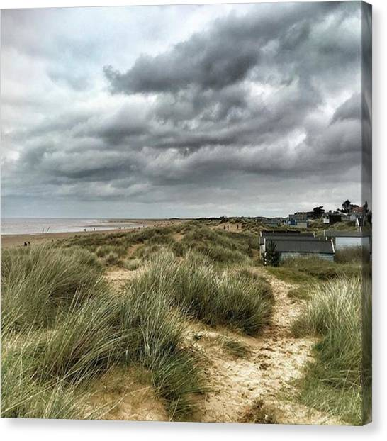 Canvas Print - Old Hunstanton Beach, North #norfolk by John Edwards