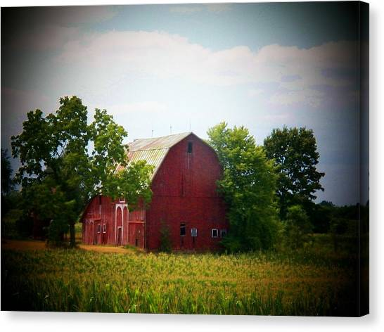 Old Indiana Barn Canvas Print