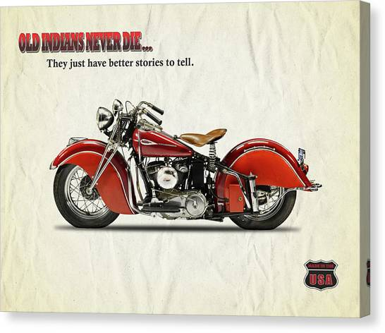 Scouting Canvas Print - Old Indians Never Die by Mark Rogan