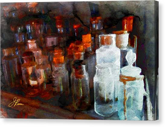 Old Jars Canvas Print