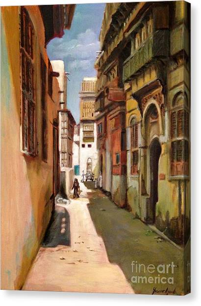 Missles Canvas Print - Old Jeddah Street by Yvonne Ayoub