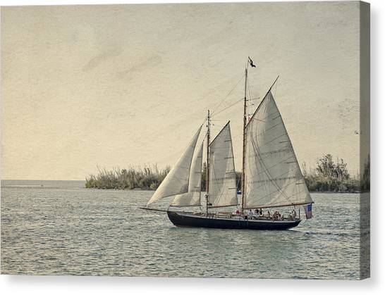 Old Key West Sailing Canvas Print
