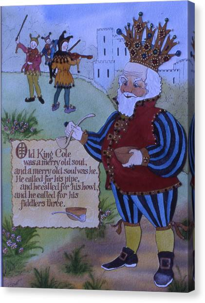 Old King Cole Canvas Print by Victoria Heryet