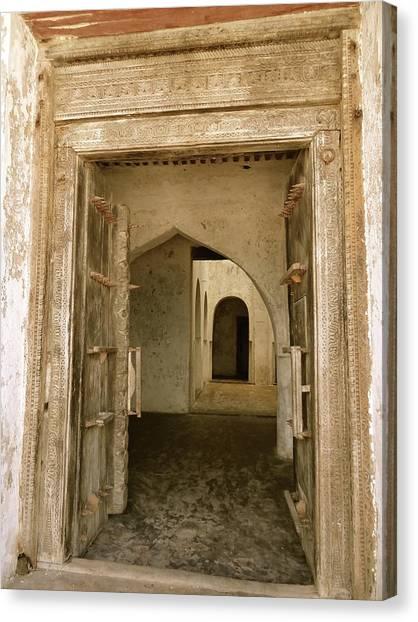 Exploramum Canvas Print - Old Lamu Town - Carved Old Door And Doorways by Exploramum Exploramum