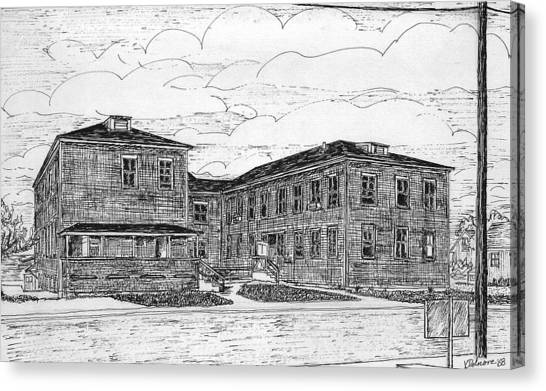 Old Lilly Lab At Mbl Canvas Print