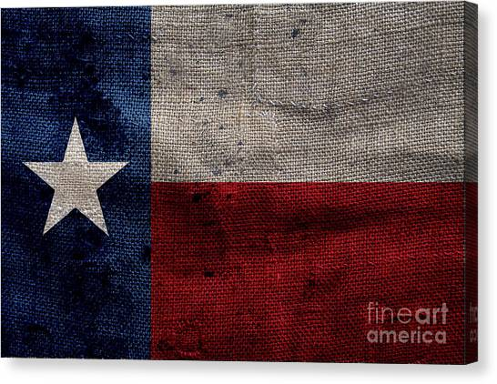 Taxes Canvas Print - Old Lone Star Flag by Jon Neidert