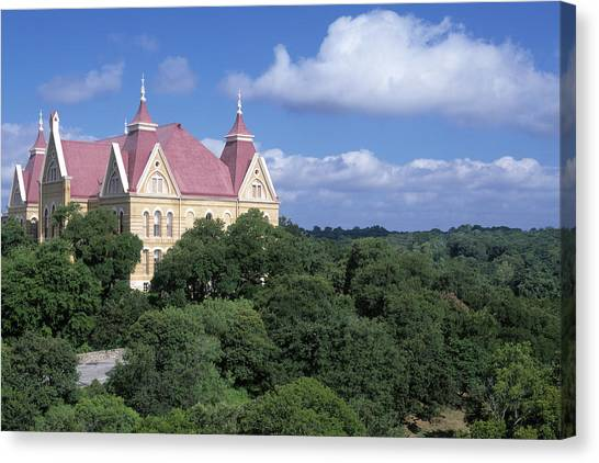 Sun Belt Canvas Print - Old Main by David  Rusch